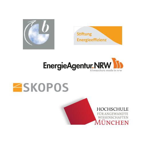Lüdwig Bölkow Stiftung, Stiftung Energieeffizienz, Energie Agentur. NRW, SKOPOS, Hochschule München