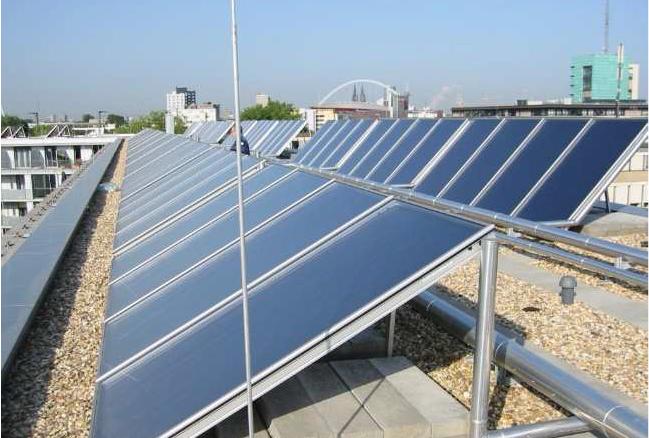Solarthermie Köln Foto